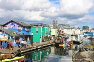 Float homes at Fisherman's Wharf in Victoria, British Columbia