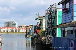 Float homes at Fisherman's Wharf in Victoria, British Columbia