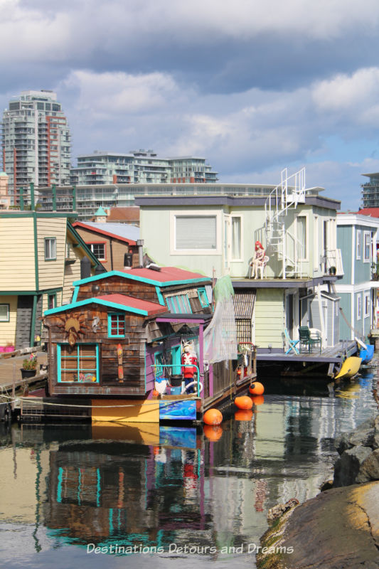 Floating homes at Fisherman's Wharf in Victoria, British Columbia
