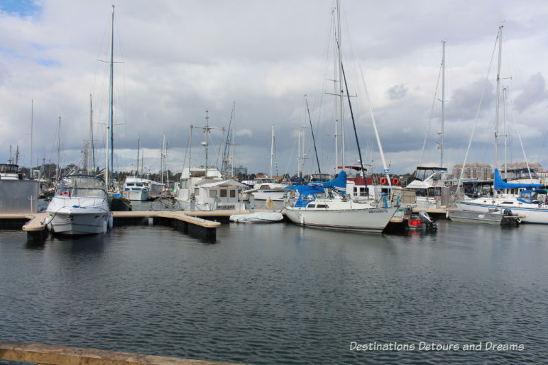 Marina at Fisherman's Wharf in Victoria, British Columbia