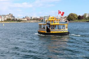 Water taxi in Victoria Inner Harbour