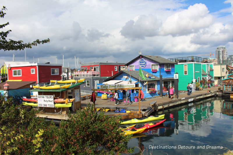 Victoria Fisherman's Wharf - a colourful area of food, sealife, shops and float homes