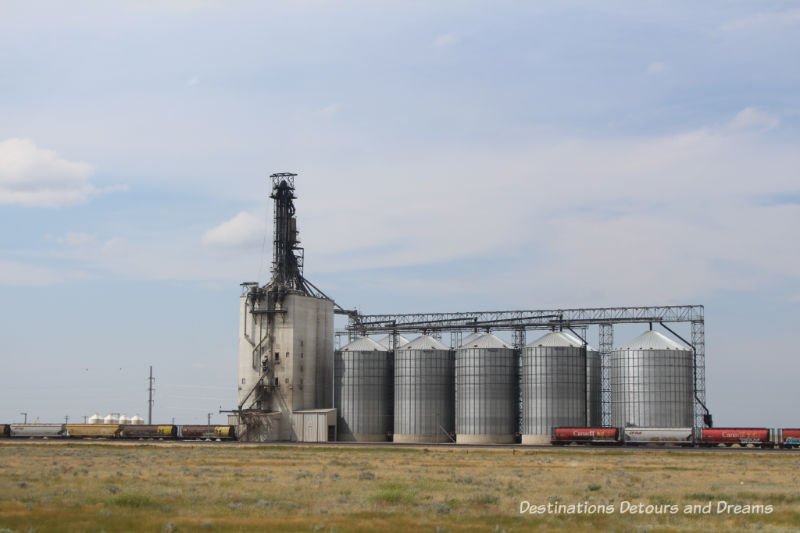 Canadian Prairie Summer Road Trip Photo Story: modern grain storage