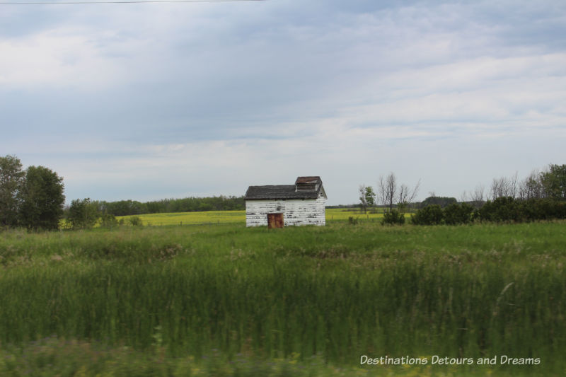 Canadian Prairie Summer Road Trip Photo Story: old weathered shed