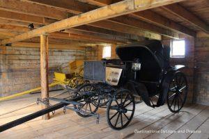 Victoria carriage at Bar U Ranch, historic site dedicated to commemorating Alberta ranching history