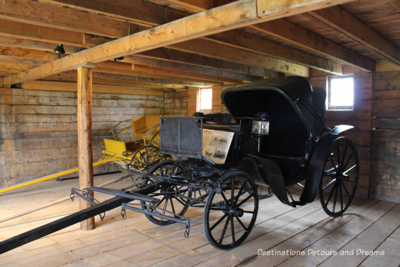 Victoria carriage at Bar U Ranch, historic site dedicated to commemorating Alberta ranching history