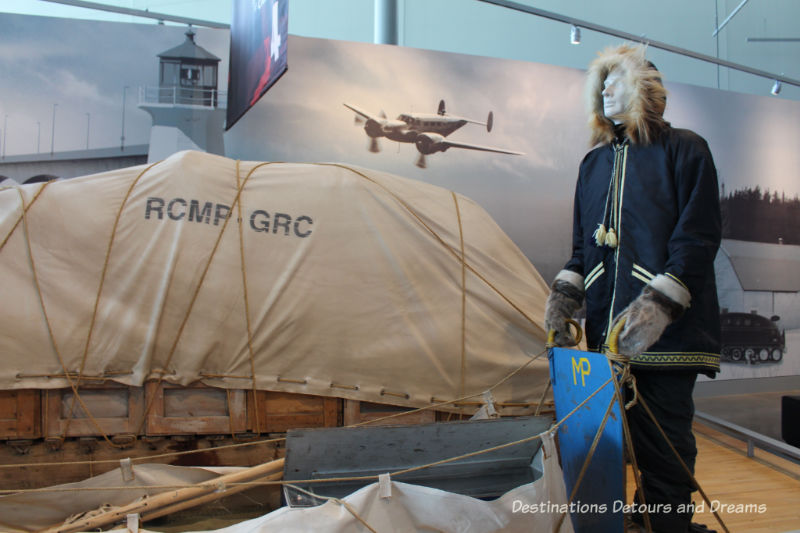 Canada Past and Present at RCMP Heritage Centre in Regina, Saskatchewan: patrolling the Arctic