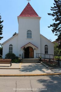 Canada Past and Present at RCMP Heritage Centre in Regina, Saskatchewan; chapel at Depot Division