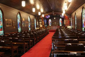 Canada Past and Present at RCMP Heritage Centre in Regina, Saskatchewan: inside the chapel at Depot Division