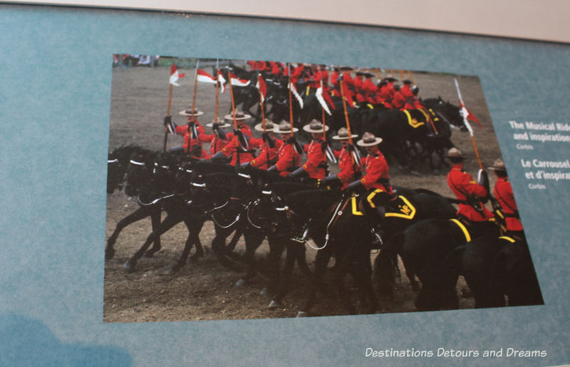 Canada Past and Present at RCMP Heritage Centre in Regina, Saskatchewan.: photo of the RCMP Musical Ride