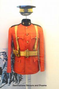 Canada Past and Present at RCMP Heritage Centre in Regina, Saskatchewan: the uniform