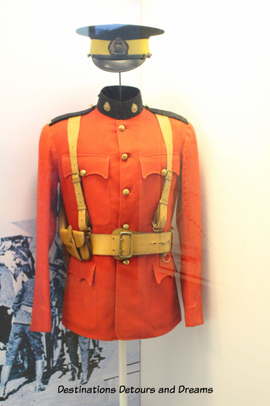 Canada Past and Present at RCMP Heritage Centre in Regina, Saskatchewan: the uniform