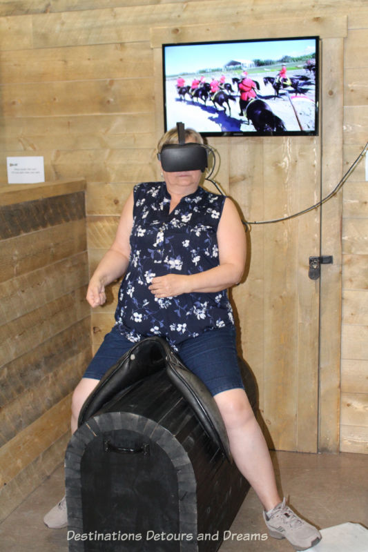 Canada Past and Present at RCMP Heritage Centre in Regina, Saskatchewan.: Musical Ride virtual reality experinece