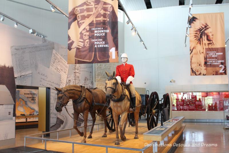 Canada Past and Present at RCMP Heritage Centre in Regina, Saskatchewan