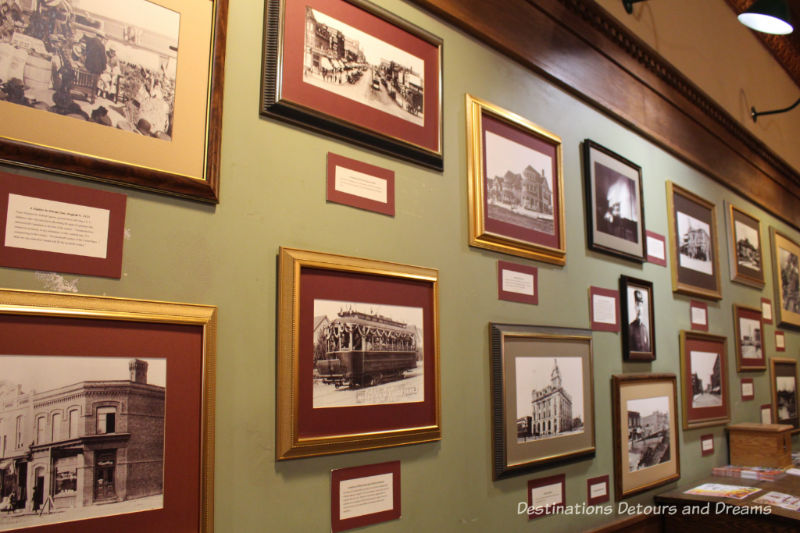 History Goes Underground at the Tunnels of Moose Jaw in Saskatchewan: history information on lobby walls