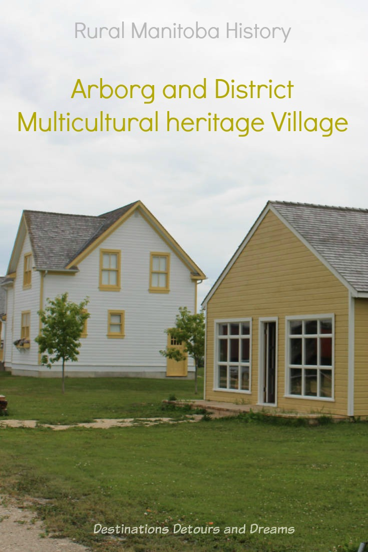 Rural Manitoba History at Arborg and District Multicultural Heritage Village,where restored buildings preserve the past.