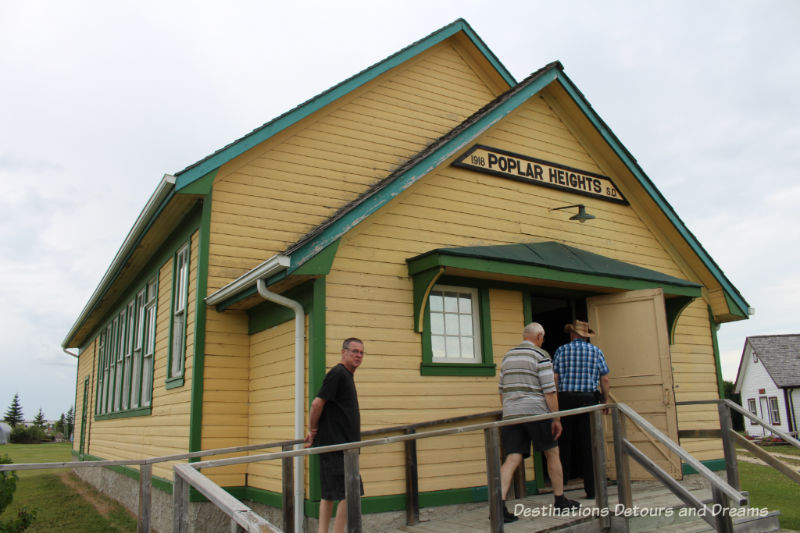 Popular Heights School at Arborg and District Multicultural Heritage Village,where restored buildings preserve Manitoba's past.