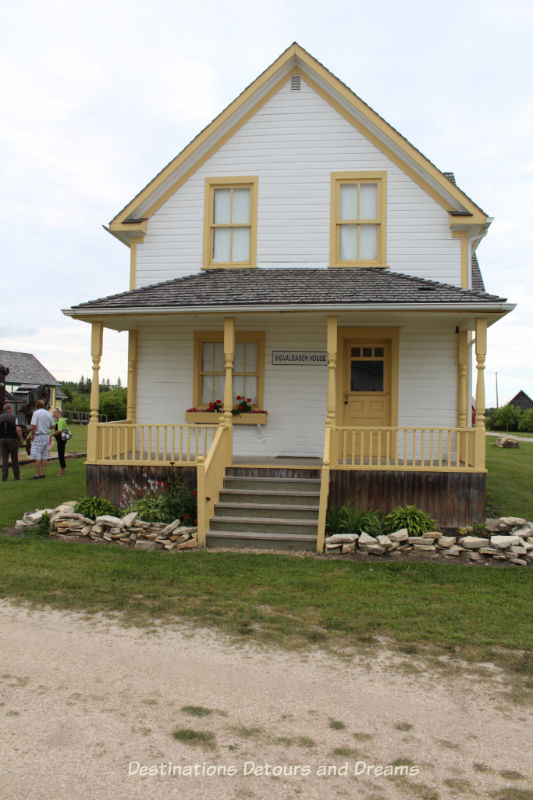 Sigvaldason House at Arborg and District Multicultural Heritage Village,where restored buildings preserve the past of a rural Manitoba farming community.