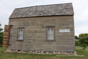 Vigfusson House at Arborg and District Multicultural Heritage Village,where restored buildings preserve Manitoba's past.