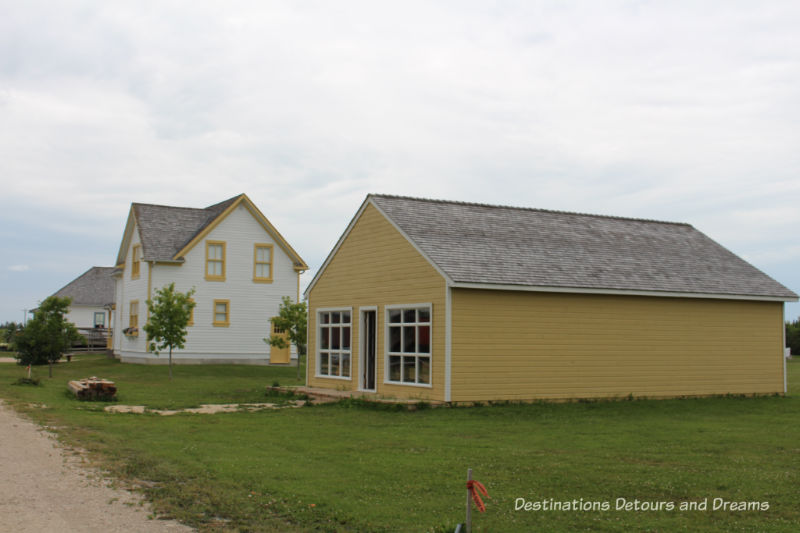 Rural Manitoba History at Arborg and District Multicultural Heritage Village,where restored buildings preserve the past