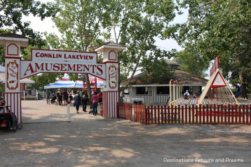 Travelling carnival in Heritage Park Historical Village in Calgary, Alberta