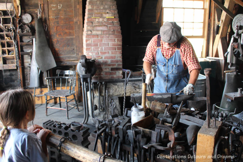 Flett's Blacksmith Shop in Heritage Park Historical Village in Calgary, Alberta