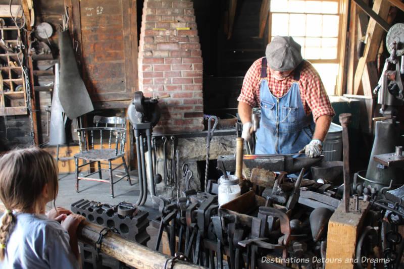 Flett's Blacksmith Shop in Heritage Park Historical Village in Calgary, Alberta