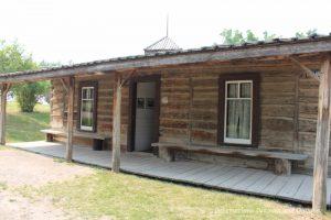 Cabin in Heritage Park Historical Village in Calgary, Alberta