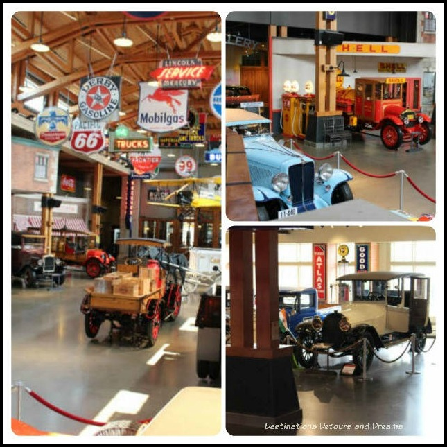 Gasoline Alley Museum in Heritage Park Historical Village in Calgary, Alberta