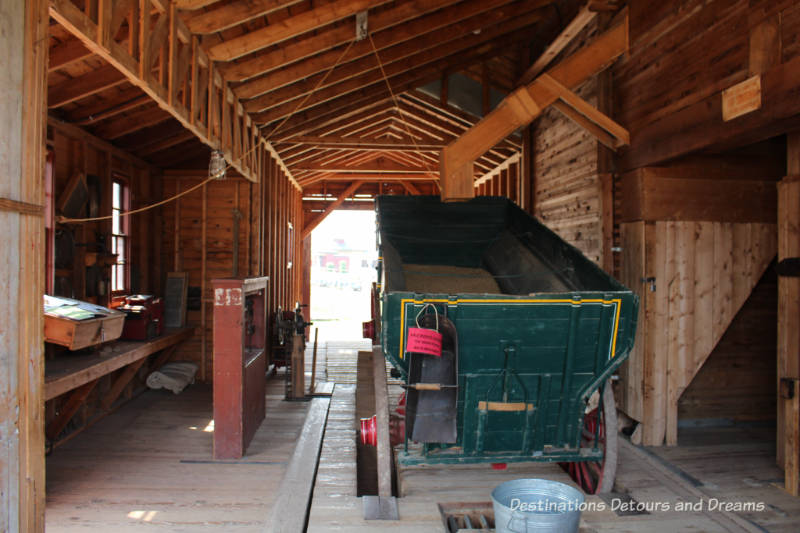 Shonts Grain Elevator in Heritage Park Historical Village in Calgary, Alberta