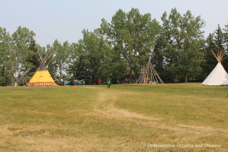 First Nations Encampment in Heritage Park Historical Village in Calgary, Alberta