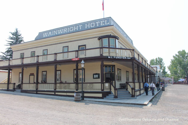 Wainwright Hotel in Heritage Park Historical Village in Calgary, Alberta