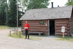 Mounted Police post in Heritage Park Historical Village in Calgary, Alberta
