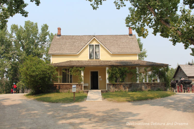 Burnside Ranch House in Heritage Park Historical Village in Calgary, Alberta