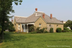Sandstone House in Heritage Park Historical Village in Calgary, Alberta