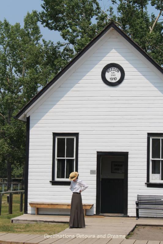 Weedon School in Heritage Park Historical Village in Calgary, Alberta
