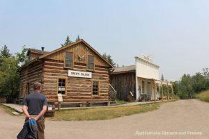 1880s pre-railway settlement in Heritage Park Historical Village in Calgary, Alberta