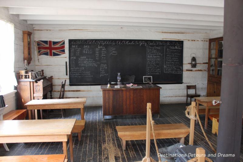 Gleichen School in Heritage Park Historical Village in Calgary, Alberta