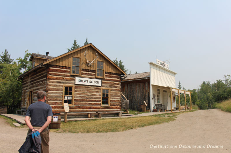 1880s pre-railway settlement in Heritage Park Historical Village in Calgary, Alberta