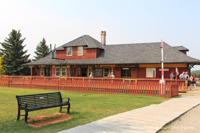 Shepard Station in Heritage Park Historical Village in Calgary, Alberta