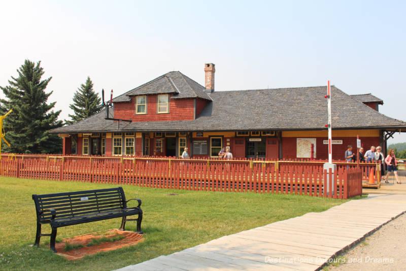 Shepard Station in Heritage Park Historical Village in Calgary, Alberta