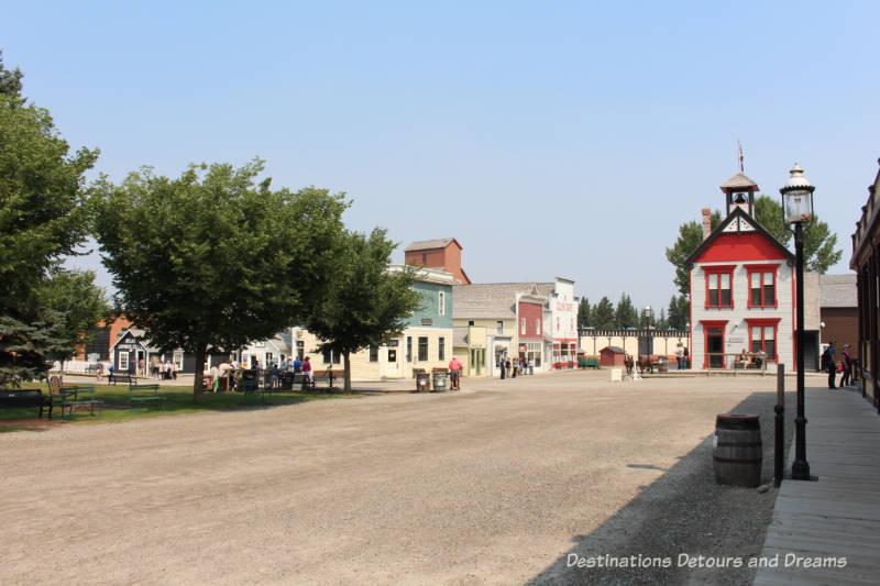 1900s Living Historical Village in Heritage Park Historical Village in Calgary, Alberta