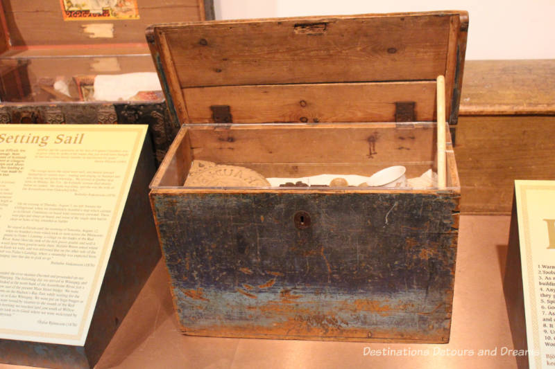 Immigrant trunk at New Iceland Heritage Museum: Icelandic Roots In Gimli, Manitoba