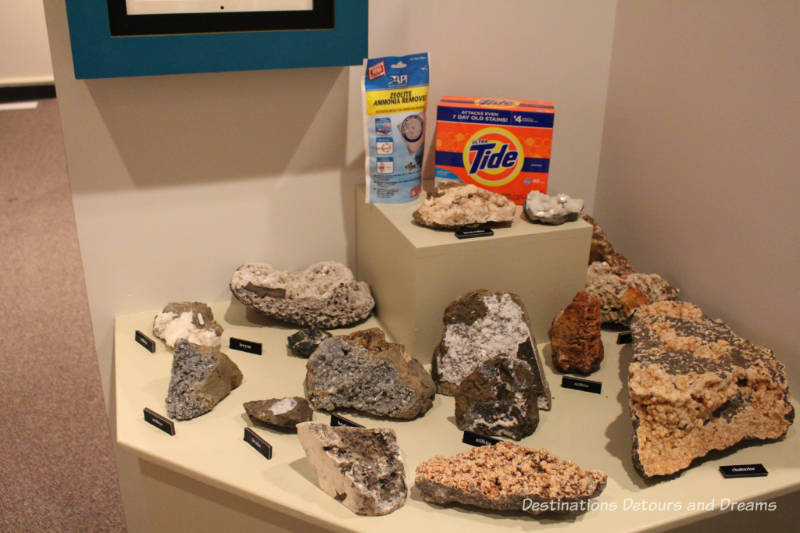 Zeolites in New Iceland Heritage Museum: Icelandic Roots In Gimli, Manitoba
