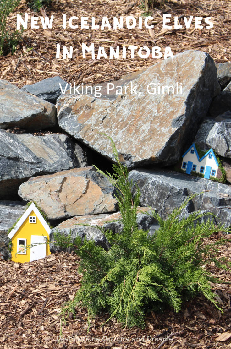 New Icelandic Elves in Manitoba:Viking Park in Gimli Manitoba contains homes for the hidden people