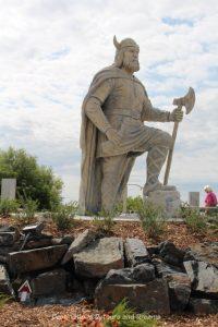 Viking statue in Gimli Manitoba (New Iceland)