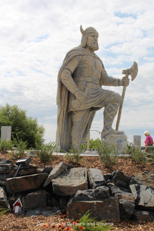 Viking statue in Gimli Manitoba (New Iceland)