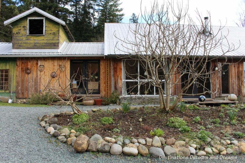 Converted barn. A Sweet Visit to Westholme Tea on Vancouver Island. Tea, pottery, sweets on a Canadian tea farm.