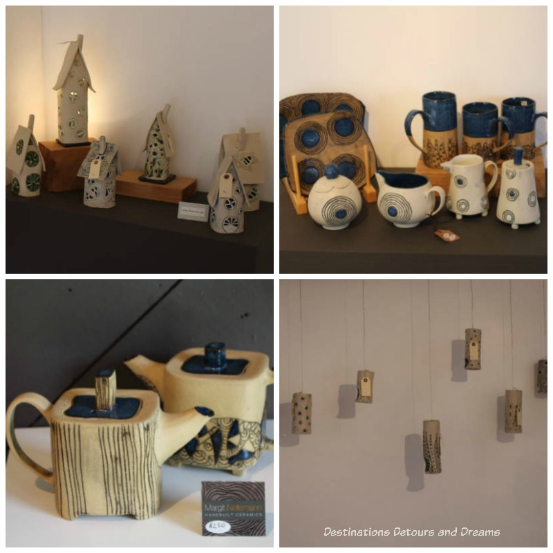 Margit Nelleman pottery. A Sweet Visit to Westholme Tea on Vancouver Island. Tea, pottery, sweets on a Canadian tea farm.