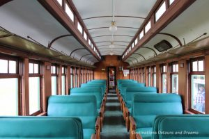 Coach 106 on The Great Train Robbery: a fun excursion on Manitoba's Prairie Dog Central Railway, a heritage train